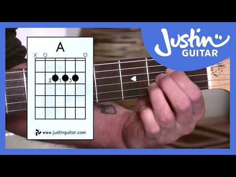 The A Chord (Guitar Lesson BC-112) Guitar for beginners Stage 1