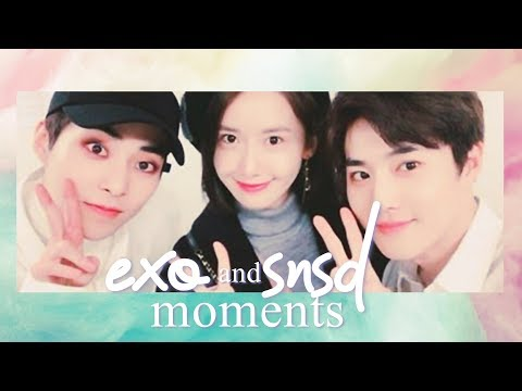 EXO AND SNSD MOMENTS