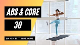 INTENSE LOW IMPACT ABS WORKOUT // 10 MIN HIIT AT HOME // MR AND MRS MUSCLE // No.53