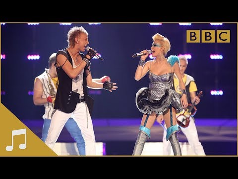 "http://www.bbc.co.uk/eurovision/ ""Run Away"" is being performed in Oslo for Moldova by the act Sun Stroke Project & Olia Tira."