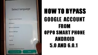Oppo F1s,F1 Plus,F1,R1,A37,A37f, Gmail Account Bypass (frp reset ) Android 5.0 and 6.0.1