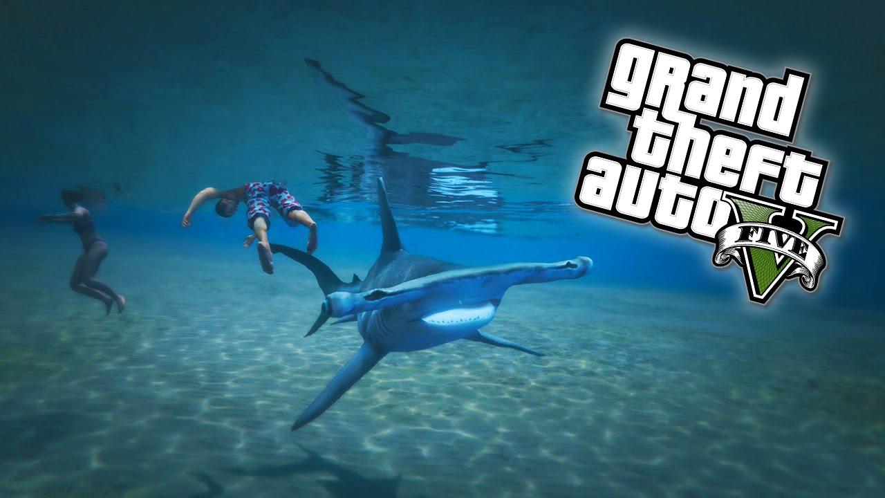 Gta 5 Play As A Shark Easter Egg Gta V Next Gen Youtube