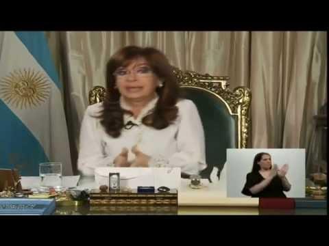 21 de OCT. Proyecto de Reforma del Código Procesal Penal. Cadena Nacional. Cristina Fernández.