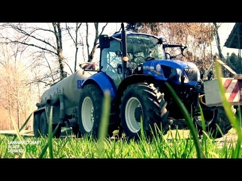 New Holland T5.115 - Gülle transportieren