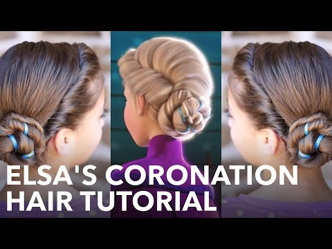 Frozen Inspired Elsa's Coronation Updo - A CuteGirlsHairstyles Disney Exclusive