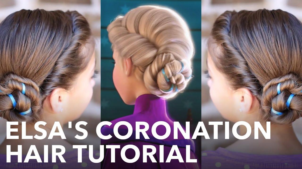 Frozen Inspired Elsa's Coronation Updo   A CuteGirlsHairstyles Disney ...