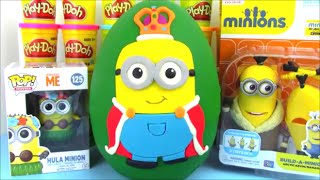 Coolest Minion Surprise Egg King Bob with Surprise Toys