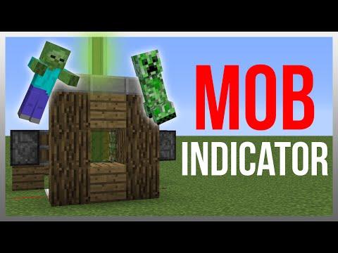 Minecraft 1.9: Redstone Tutorial - Mob Indicator v2!