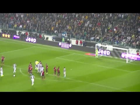 JUVENTUS Vs Milan Goal Pirlo 1-1