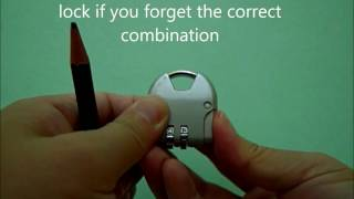 Easy steps to reset combination lock