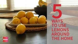 Cinco Utilidades Para O LIM�O Na Limpeza Da Casa!