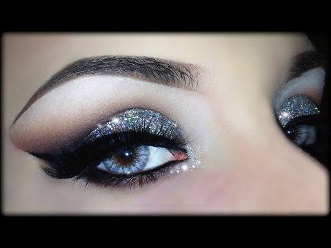 Sexy Christmas Cut Crease - 3D Silver Glitter Elegant Makeup Tutorial (Trucco Natale) 2014