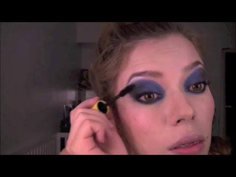 Video Tutorial: Peinado y Maqullaje Azul y Negro Rizos