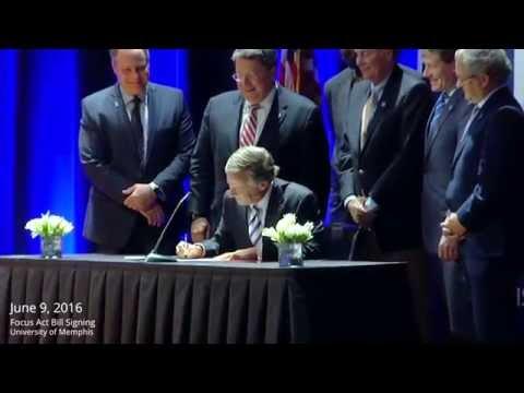 Gov. Bill Haslam : FOCUS Act Signing