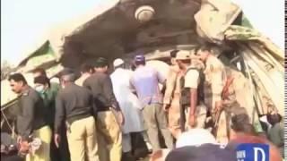 22 killed as trains collide near Karachi's Landhi Railway Station
