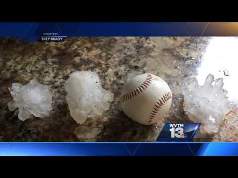 Hail of a day in central Alabama:  The science behind the shapes and sizes of fallen hail