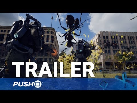 Earth Defense Force: Iron Rain PS4 Reveal Trailer   PlayStation 4   TGS 2017