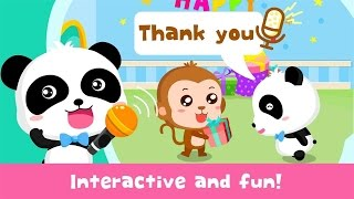The Magic Words Polite Baby Panda Full HD Android Gameplay best free kids educational app movie