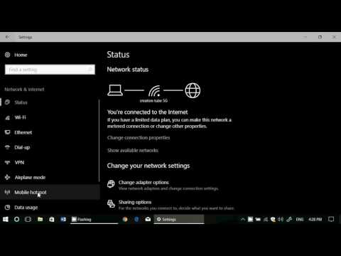 How to share your Internet connection in Windows 10 Creators update Mobile Hotspot