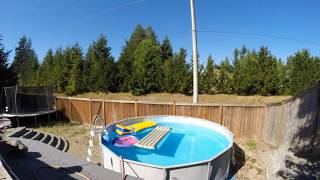 Time lapse video filling Pool