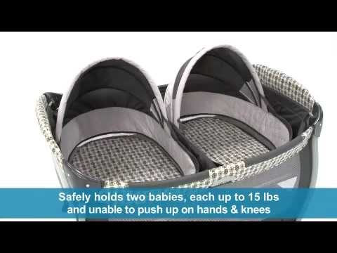 Graco Pack N Play Playard With Twins Bassinet Youtube