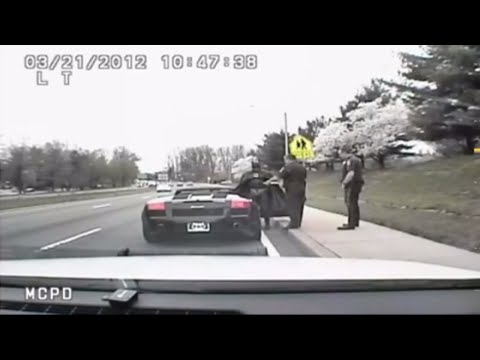 Raw Video: Batman Pulled Over