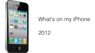 WHATS ON MY IPHONE DECEMBER 2012 EDITION