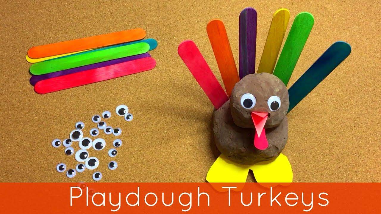 Playdough turkeys preschool and kindergarten fine motor for Fine motor activities for kindergarten