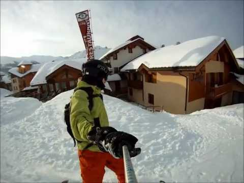 Snowboarding in Le 3 Vallees - France GoPro HD