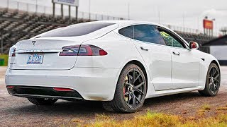 Stock Tesla Bullies V8's at the DRAG STRIP + more!