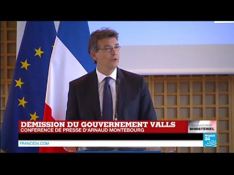 Remaniement en France : revoir la conférence de presse d'Arnaud Montebourg sur FRANCE 24