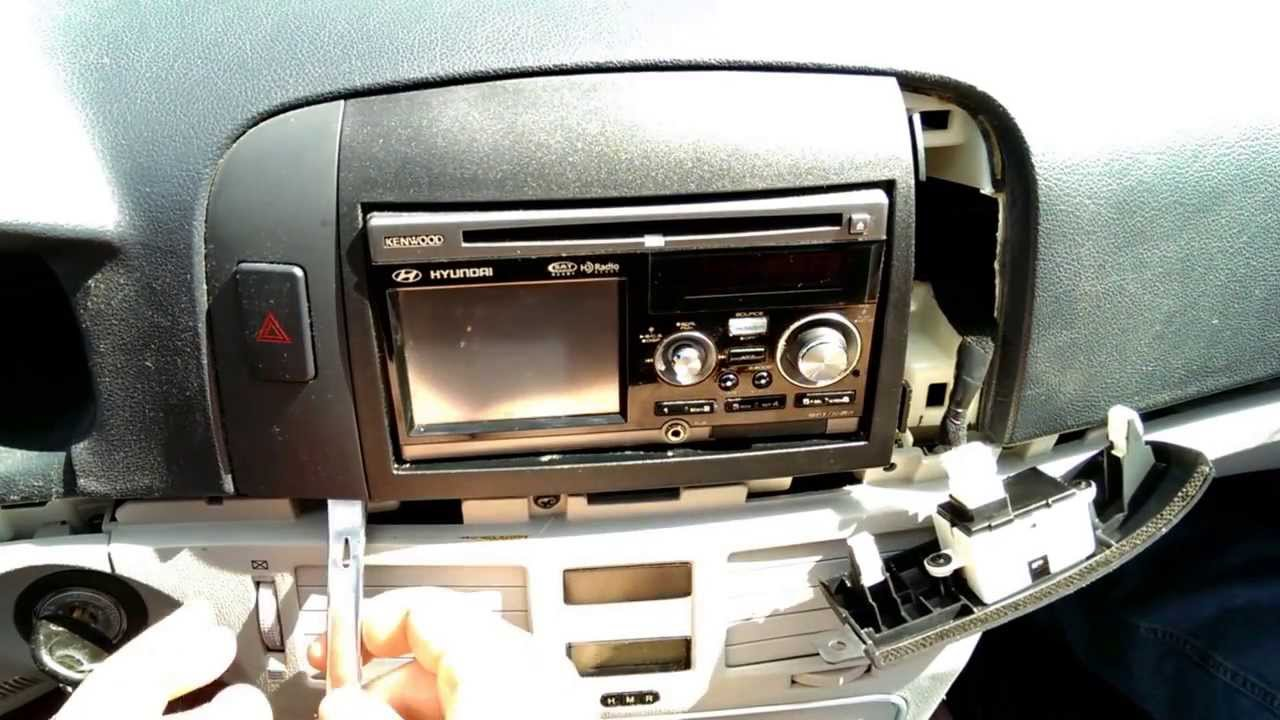 Replacing Radio In 2007 Hyundai Sonata Part 1 Youtube