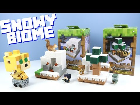 Minecraft Mini-Figures Snowy Biome Sets Wood Chopping & Igloo Ignition Review