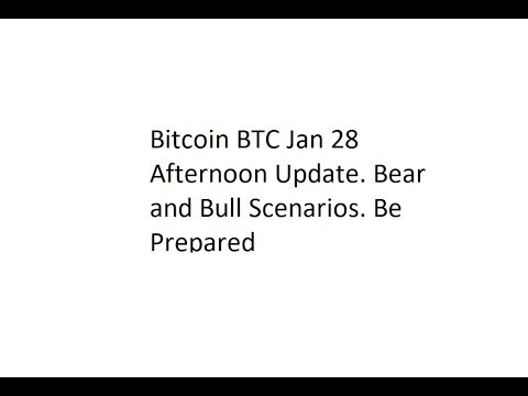 Bitcoin BTC Jan 28 Afternoon Update. Bear and Bull Scenarios. Be Prepared
