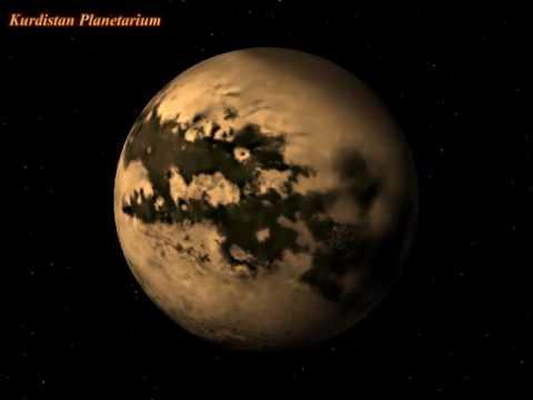 Titan Moon Surface Saturn 39 s Moon Titan Rotation