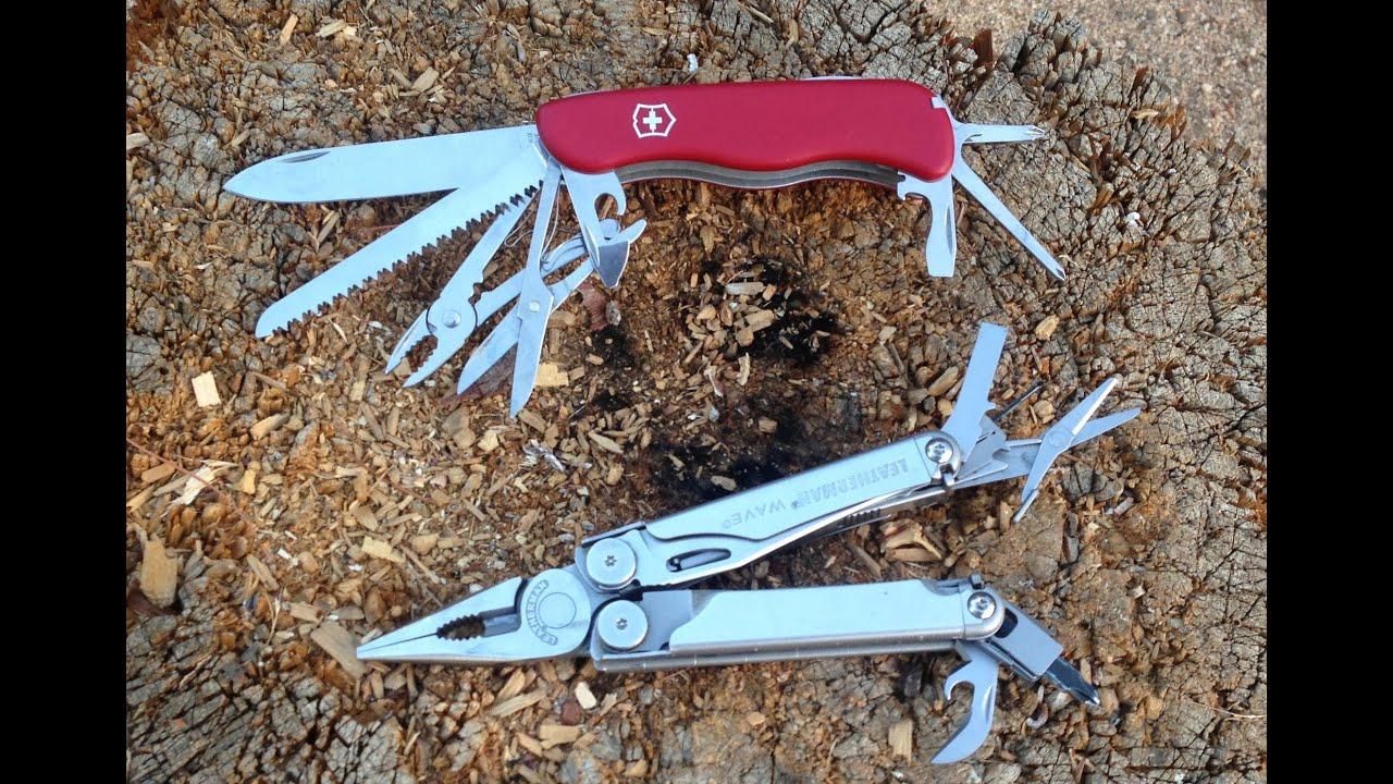 Swiss Army Knife Vs Leatherman Multitool Youtube
