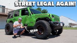 MAKING THE JEEP STREET LEGAL FOR ONLY $7.50!!