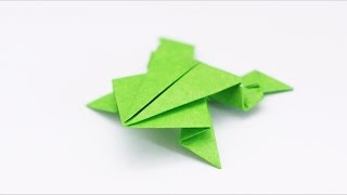 ORIGAMI FROG (Traditional model)