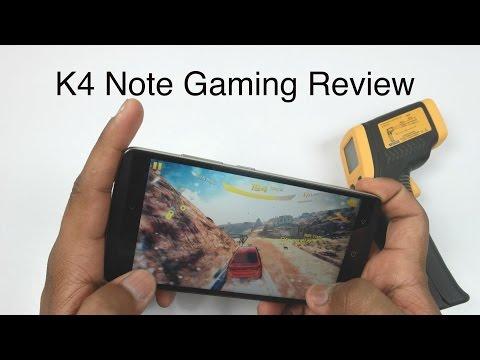 Lenovo K4 Note Gaming Review With Overheating Check! (Asphalt 8. NOVA 3. MC5. GTA)