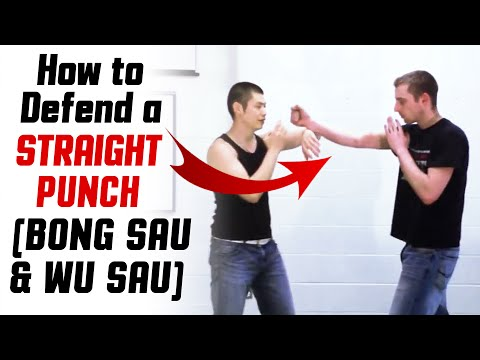Wing Chun Techniques - Bong Sau / Wu Sau vs Straight Punch Image 1