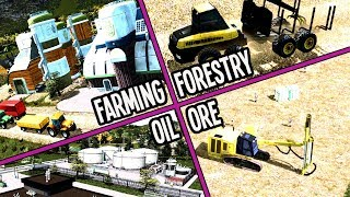 Can We Build ALL Four Industries & Still Make Money in Cities Skylines? #TeaVille