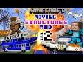 MINECRAFT MOVING STRUCTURES! Bus, Boat, Plane, Movie Theater ...