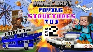 Minecraft bewegende structuren! bus, boot, vliegtuig, bioscoop