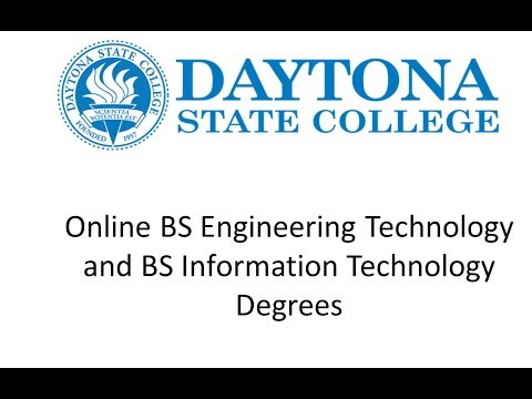 Online BSET and BSIT Degrees at Daytona State College
