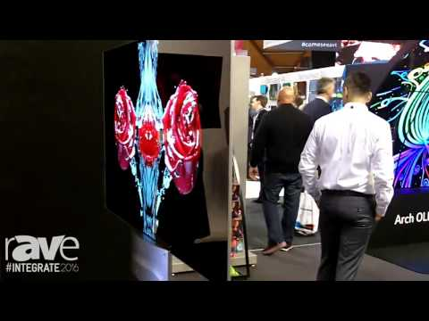 Integrate 2016: LG Shows a Two-Sided OLED-Based Wall Paper Display as Thin as Cardboard