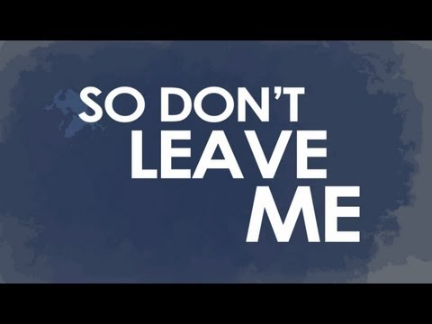 An Honest Year - Don't Leave Me (Official Lyric Video)