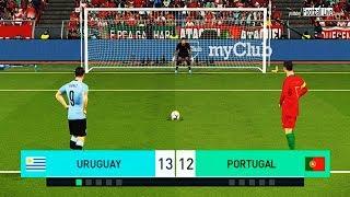 PES 2018 | URUGUAY vs PORTUGAL | Penalty Shootout | Suarez vs Ronaldo | Gameplay PC