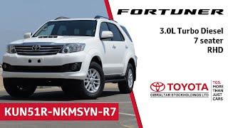 Toyota Fortuner - 3.0L Turbo Diesel - 7 seater - RHD