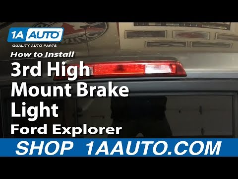 How To Install Replace Third 3rd High Mount Brake Light 2002-10 Ford Explorer Mercury Mountaineer