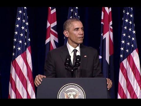 President Obama Addresses the University of Queensland